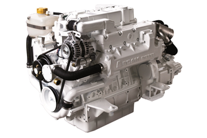SCAM SD467, 67 HP watercooled diesel engine.